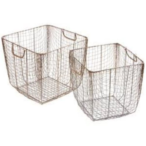 Madison Park MP163-0183 Basket, Black - Set of 2