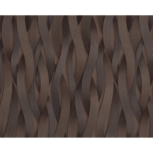 EDEM 81130BR26 Stripes wallpaper metallic highlights brown bronze 10.65 sqm