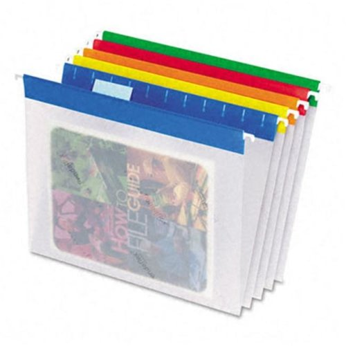 Pendaflex 55708 EasyView Poly Hanging File Folders- Letter- Assorted  Colors- 25/Box