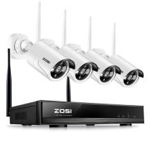 ZOSI 4 Channel 1080P Wireless CCTV Camera Systems with 4x 960P HD 1.3MP Wireless IP Cameras 100ft Night Vision