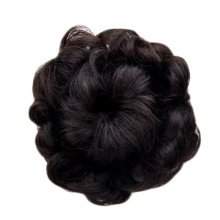 Beautiful Human Hair Bun Extension Fancy Hair Bun Donut For Women, Black