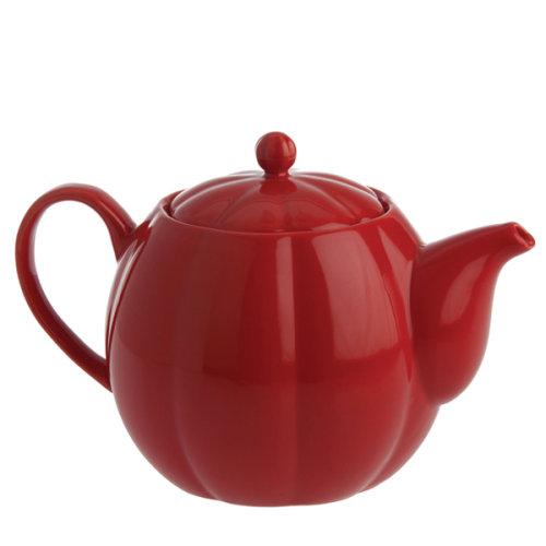 La Porcellana Villadeifiori Teapot Red