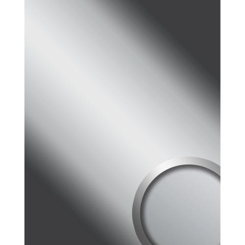 WallFace 14408 DECO SILVER Wall panel self-adhesive Mirror glossy silver 2.6 sqm