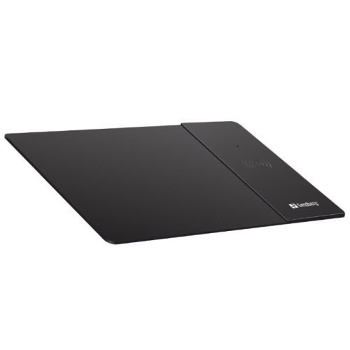 Sandberg 441-12 Mouse Pad With Qi Wireless Charging Area Supports Fast Char 441-12