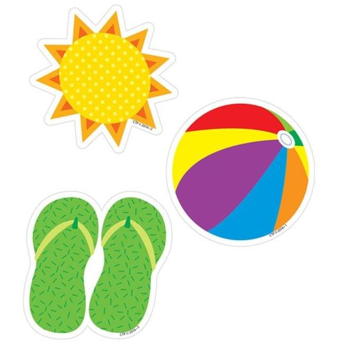 Creative Teaching Press CTP8088BN 3 in. Summer Fun Designer Cut-Outs - Pack of 6
