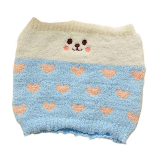 [Blue] Keep Your WAIST/STOMACH/TUMMY Cashmere Belt Lovely Cat