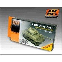 Ak00131 - Ak Interactive Set Olive Drab Color Modulation