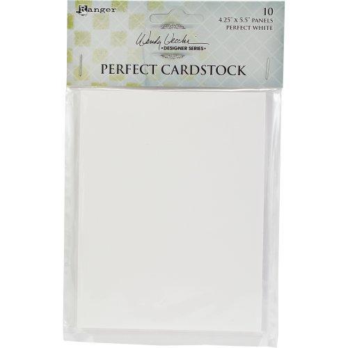 "Wendy Vecchi Perfect Cardstock 4.25""X5.5"" 10/Pkg-White Panels"