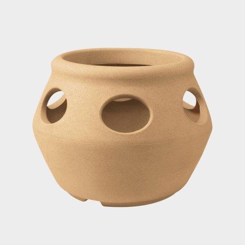 Stewart Strawberry Pot/Herb, 33 cm - Sandstone