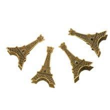 Set of 4 Vintage Metal Eiffel Tower CROWN Memo Holder Message/Photo/Card Holders