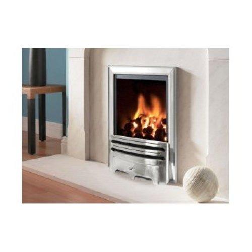 Designer Fire - Flavel FRDC37MN Silver Kenilworth Contemporary Gas Fire - MC