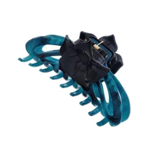 Ladies Hair Accessory Hair Clips Retro Hairpin Tuck Comb Hair Grip Flower Blue
