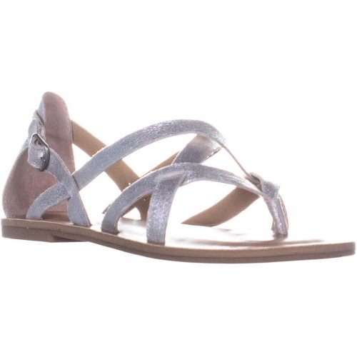 Lucky Brand Ainsley Strappy Sandals, Washed Silver, 6.5 UK