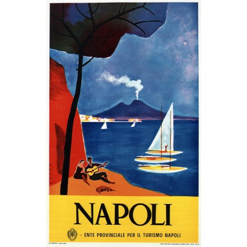 Advertising poster - Napoli - High definition printing on stainless steel plate