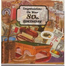 Congratulations on your 80th Birthday Greeting Card