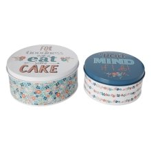 Pretty Things Round Cake Tins, Set Of 2