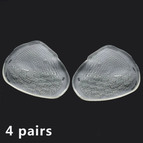 4 Pairs Ball of Foot Gel Cushion Feet Pad Insoles for Care High Heeled Shoe