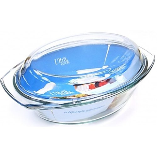 Ultracook Extra Large 3.5 Litre Oval Casserole Dish & Lid Roasting Dish Deep
