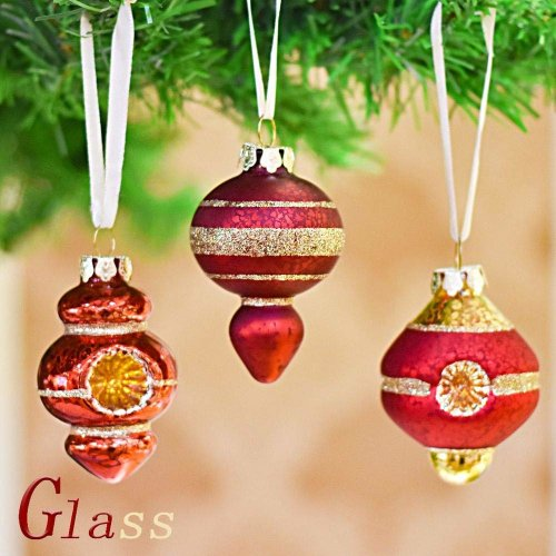 Christmas Tree Balls.Valery Madelyn 6pcs 2 4a 6cm Luxury Red And Gold Christmas Glass Baubles Ornaments Christmas Tree Balls Pendants Decorations