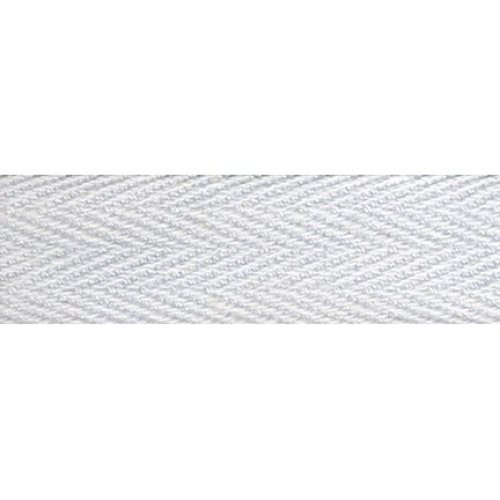 """Products From Abroad 100% Cotton Twill Tape 1.125""""X55yd-White"""