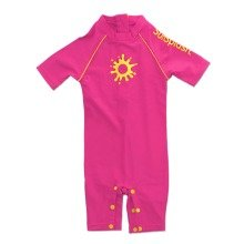 Sunsplash Baby Uv Girls Sun Suit Pink (2-3 Years)