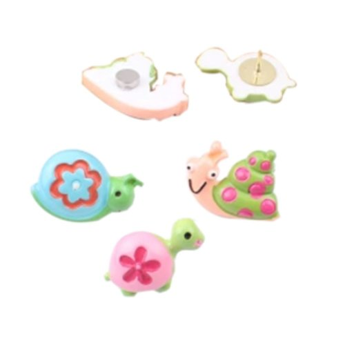 Tortoise and Snail Design Pushpins Drawing Pin 6 Pcs for shcool or office