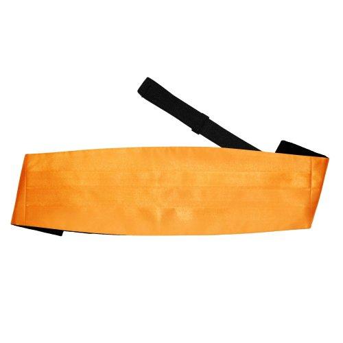 Fluorescent Orange Plain Satin Cummerbund