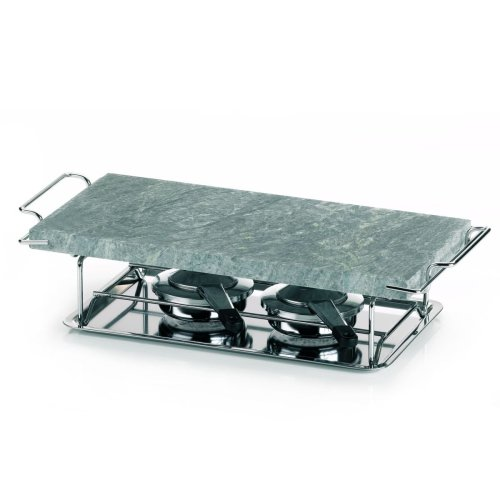 "Kela""Gourmet"" Hot Stone, Stainless Steel, Silver/Grey, 37 X 19 Cm, 6-Piece"