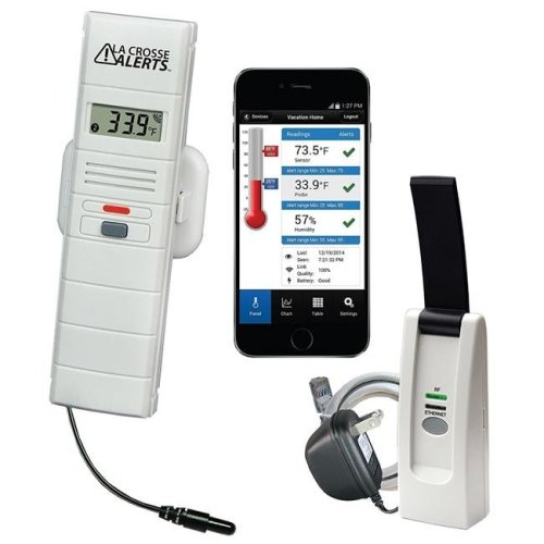 La Crosse Technology 926-25101-GH Greenhouse Monitoring System with Dry Probe for Early Warning Alerts & Wireless mobility