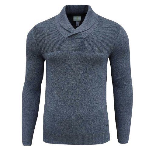 adidas Neo Men's/Boys Slim Fit Shawl Neck Jumper Blue