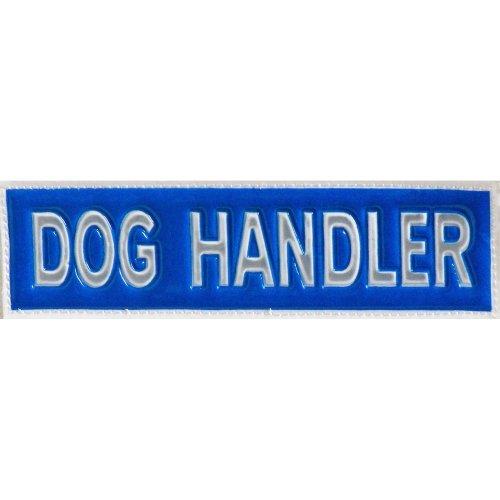 Reflective DOG HANDLER Patch -Blue-10 x 3cm