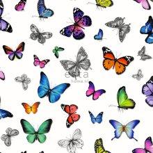 HD non-woven wallpaper butterflies colourful