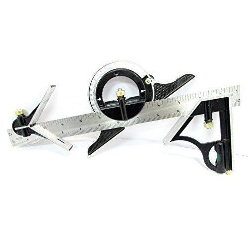 "12"" 300mm Combination Square Adjustable Protractor Measuring Angle Finder Ww017 -  12 combination square protractor 300mm measuring angle finder tool"