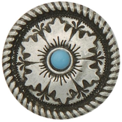 "Concho Antique Silver Screwback 1""-Mesa Round"