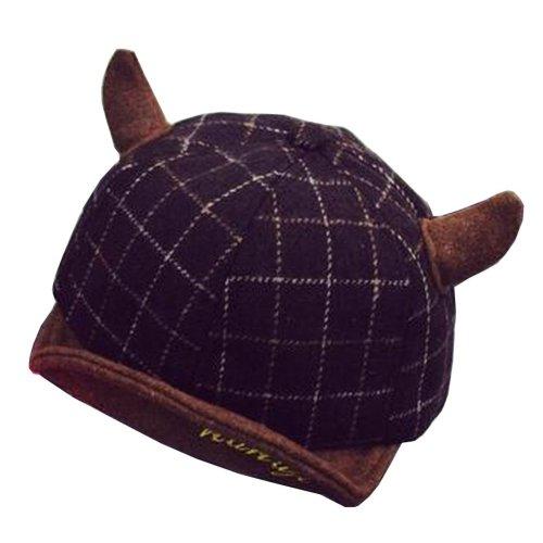 [Brown] Fashion Baby Woolen Cap Winter Baseball Cap for Kids