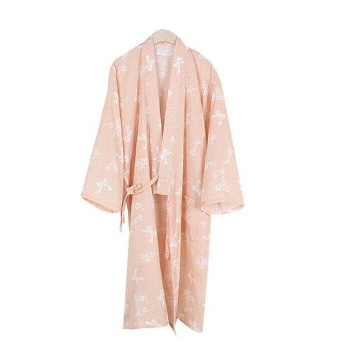 Cotton Pajamas Khan Steamed Clothing Loose Pajamas Yukata,Orange
