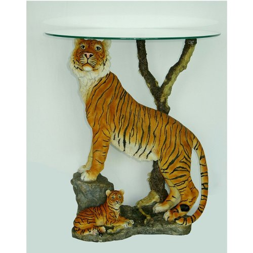 Tiger and Cub Coffee Table Side Table