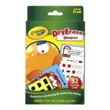 Crayola Dry Erase Learning Flash Cards Shapes