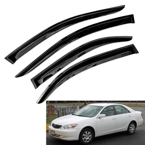 Atomsonic WV-02-06-Camry Sun & Rain Guard Vent Shade Window Visors for 2002-2006 Toyota Camry Tape-On Wind Deflector - 4 Piece