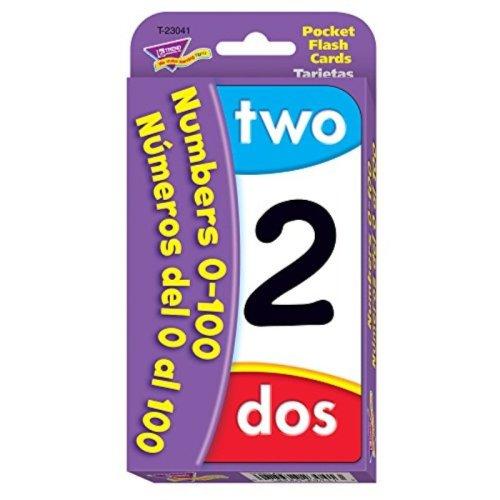 Numbers 0-100/Numeros del 0 al 100 Pocket Flash Cards