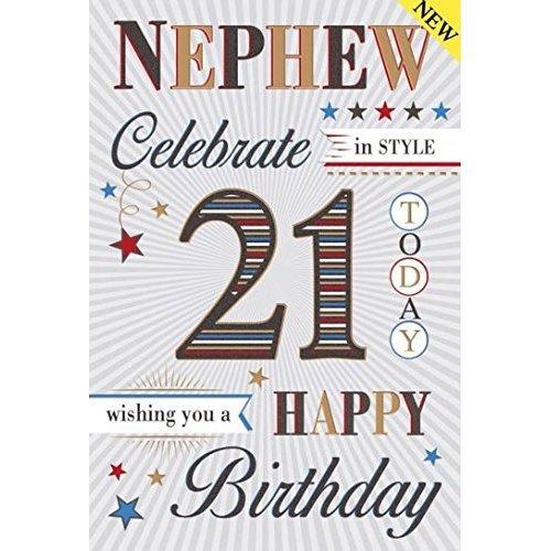 Special Nephew 21st Birthday Card On Onbuy