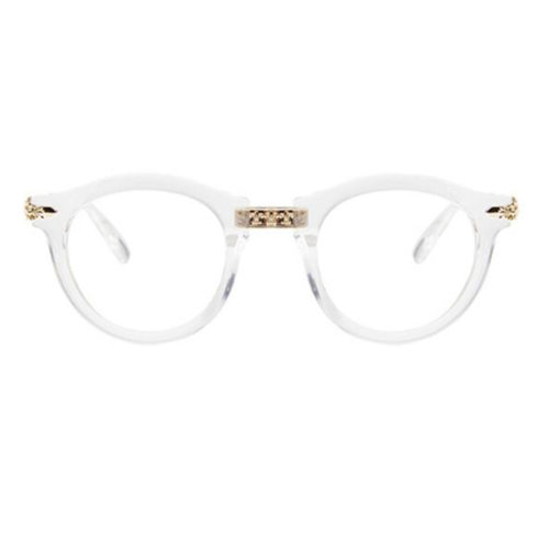 Retro Fashion Round Glasses Frames for Men and Women-Transparent