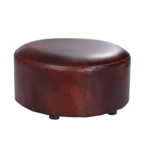 Creative Round Modern Small Faux Leather Stool Shoes Stool  Sofa Pier, Brown