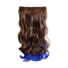 Durable Women Long Curly Wave Hair Extension Clip on/in Hair Wig