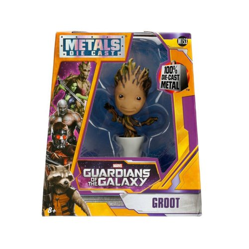 """Metals Guardians of the Galaxy 4"""" Potted Groot Die-Cast Collectable Figurine"""