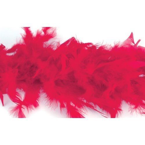 "Zucker Chandelle Feather Boa Solid Color 72""-Red"