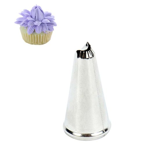 5 pieces Cake Decorating Tools Stainless Steel Pastry Tube Cake Icing Nozzles, #005