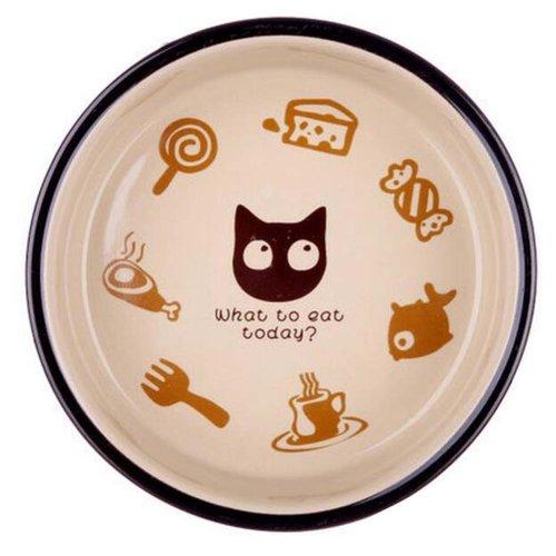One Little Ceramic Feeding Pot/Pet Bowl/Dog Bowl/Cat Bowl For Food & Water 12.5x4CM (C#10)