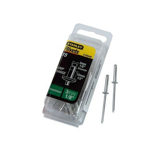 Stanley 1-PAA48T 1-PAA48 Aluminium Rivets Long 3mm (15)