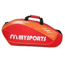 Adjustable Shoulder Strap Badminton Racket Cover Badminton Racket Bag Tennis Bag (6 Racquet) , Red